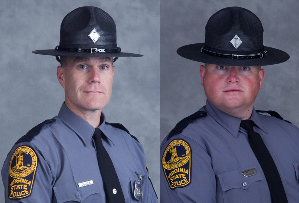 Virginia State Police identify two officers killed in helicopter crash near Charlottesville. https://t.co/9k3oqvhte6 https://t.co/g5jh2NVwF8