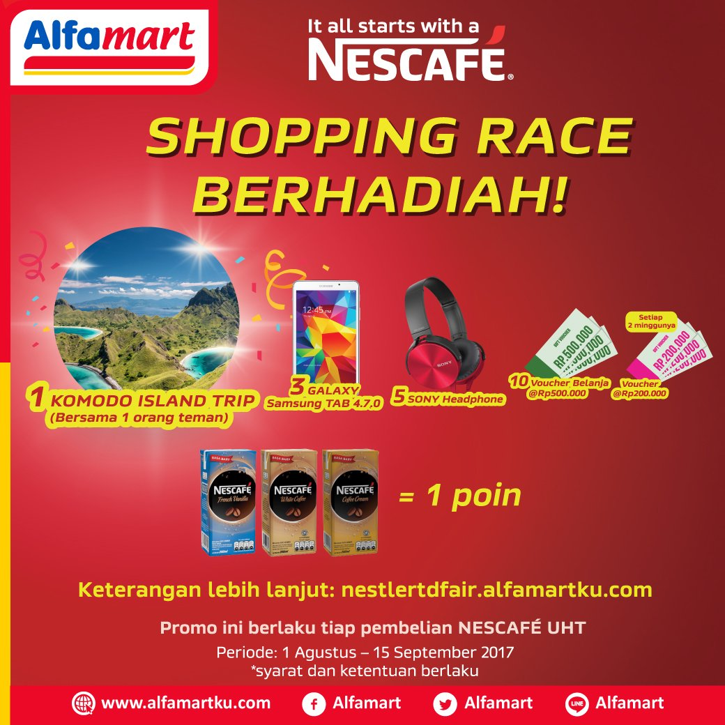 Ayo ikuti Shopping Race berhadiah setiap pembelian Nescafe UHT. Info lengkap klik https://t.co/jzfu3a3fpl https://t.co/AWZmYK8osA