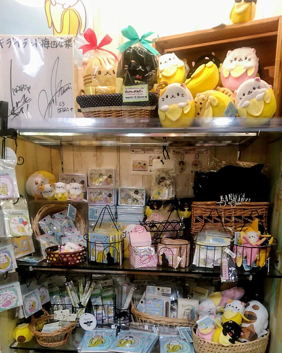 """【ばなにゃのグッズ好評発売中にゃ~】キデイランド大阪梅田店では、""""梶ばなにゃ""""グッズを取り扱っているので関西にきたら遊び"""