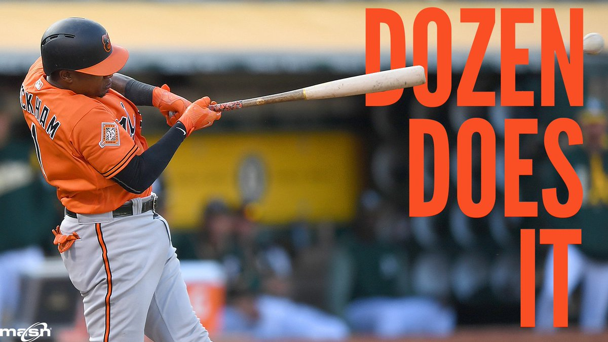 DOZEN DOES IT  Tim Beckham goe masnorioles