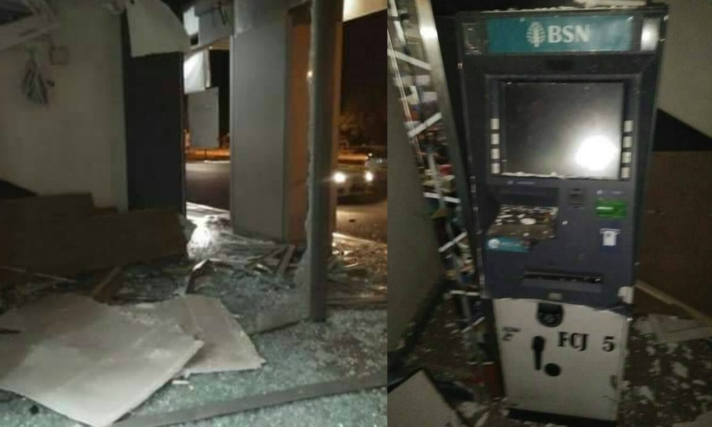 Robbers blow up ATM machine at RTC Jitra, escape empty handed