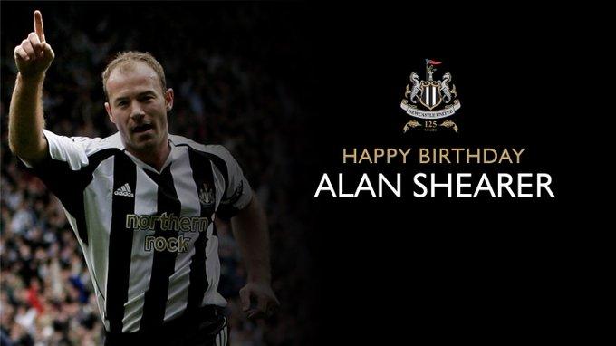 Happy birthday my legend      Alan the best striker