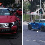 2 injured in accident involving MINI Cooper and taxi at Jurong West Ave 4