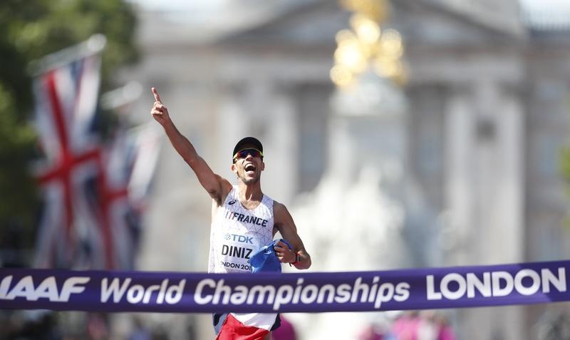 Athletics: Race walker Diniz becomes oldest world champion at 39