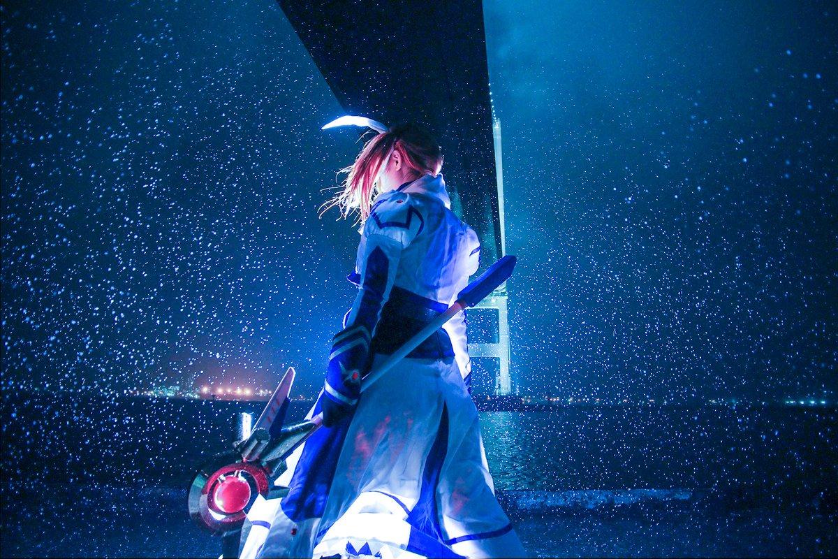 【魔法少女リリカルなのはmovie 2nd/高町なのは】撮影日がまさかの大雨。ほぼやけくそでずぶ濡れ撮影したらすげーカッ