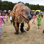 It's summer in August for Sydney's runners, children ... and dinosaurs