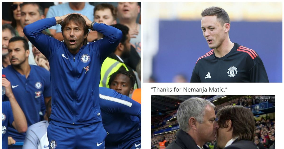 Manchester United fans troll Chelsea over Nemanja Matic transfer after Burnley defeat