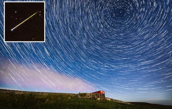 Perseid meteor shower lights up the night sky in stunning photographs and time lapse video