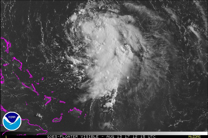 #TD8 and #sunrise. Forecast to become #Gert today. #tropicaldepressioneight #vizsat https://t.co/XwVFVyiIjs