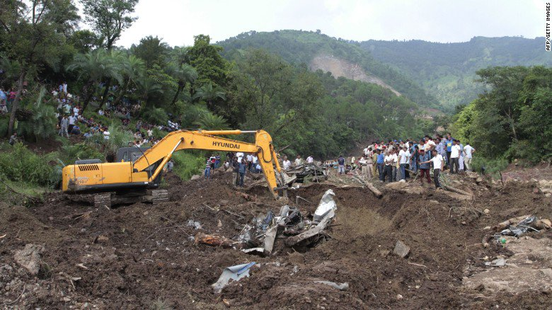 Landslide in India sweeps away two buses; nearly 50 people are feared dead...