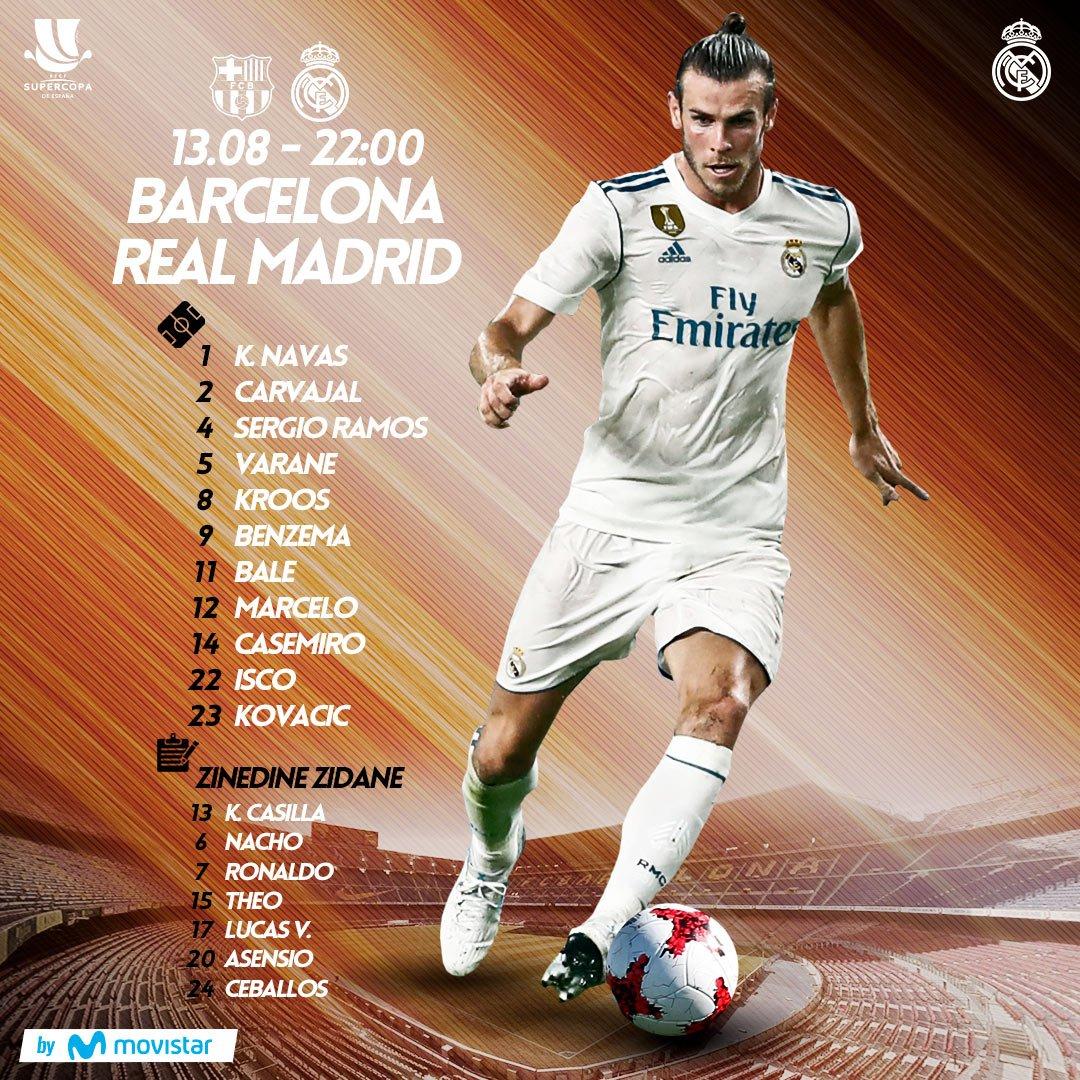 �������� #RMSupercopa  #RealMadrid XI �� Barcelona  #HalaMadrid #RMMovistar https://t.co/QL0Ws49HeF