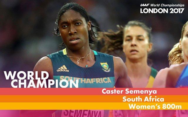 Semenya claims 3rd WC 800m title, Burundi's Niyonsaba gets silver