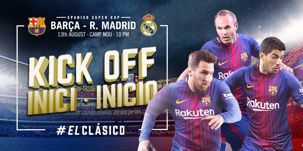 RT @FCBarcelona: ???? The game at Camp Nou is under way! ???? Som-hi Barça! ???? ???????? #ElClásico #ForçaBarça https://t.co/rCvJjETGPM