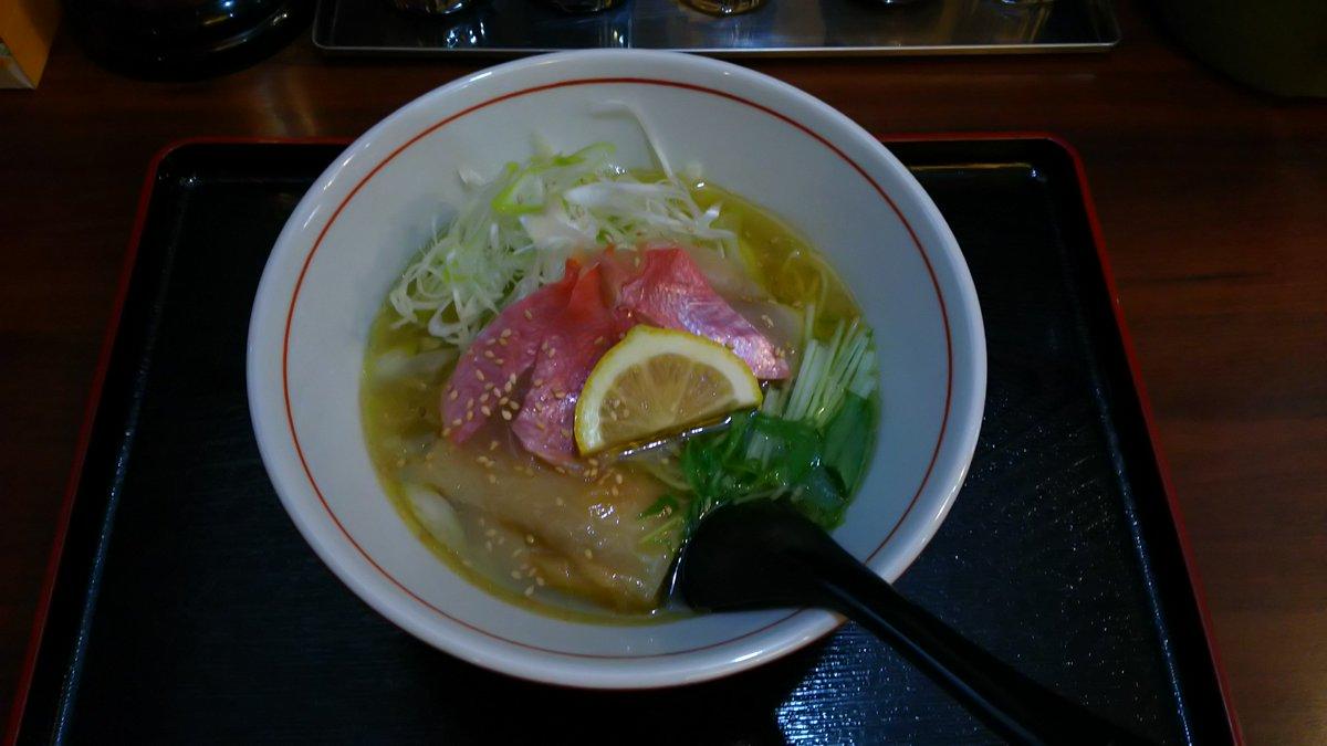 今年、早くも年間ラーメン100杯まで残り30杯でございます。銚子市にある麺屋松太郎 黄金の金目鯛塩ラーメン♪