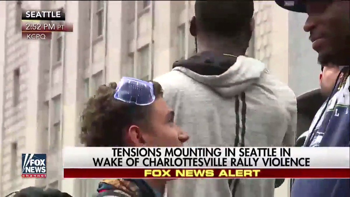 Happening Now Tensions mounting in Seattle in wake of #Charlottesville rally violence.