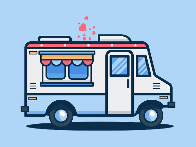 Ice Cream Truck Icon   Icons by KISDesigners freebie