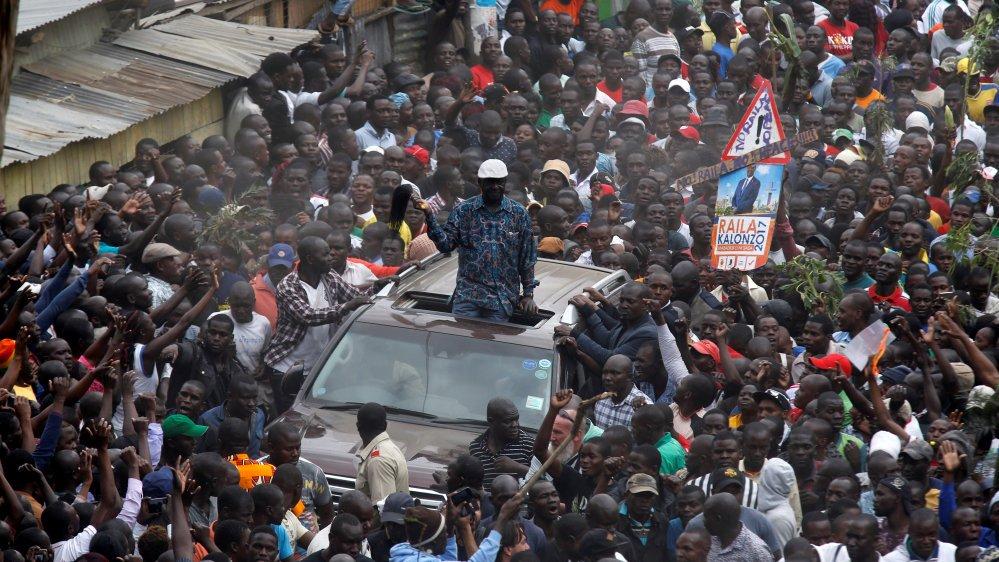 Kenya's Odinga calms supporters over 'stolen' votes
