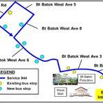 New bus service 944 to serve Bukit Batok
