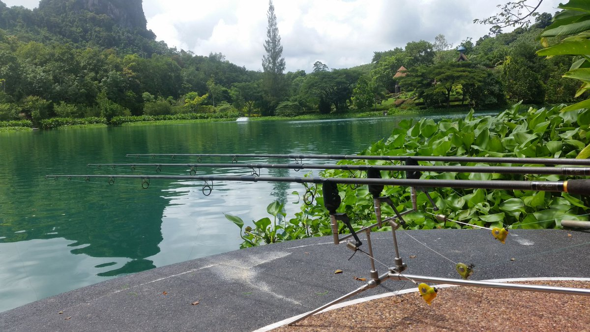 Traps set here @GillhamsFishing this place is amazing #fishing #carpfishing #thailand https://t.co/V