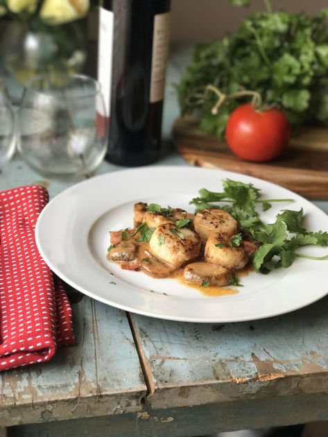 Braised scallops are a quick bit of elegance for your dinner table