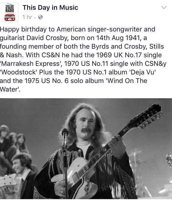 Happy Birthday David Crosby! Thanks for all you do!
