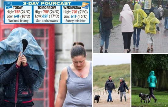 The UK is having its coldest summer holidays in over three decades with the rain set to return this week