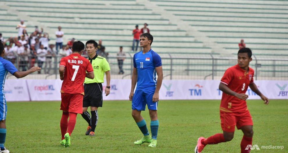 Singapore beaten 2-0 by Myanmar in SEA Games opener