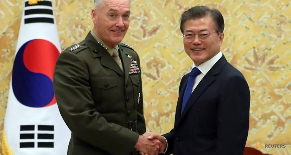 Dunford says US military options are for if sanctions fail: South Korea
