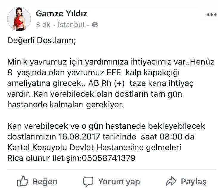 RT @gmzyldzofficial: Çok acil!!! 🙏🏻 yayalım lütfen!!! #pazartesi https://t.co/ZTTVMJUMKd