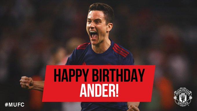Happy Birthday Ander Herrera