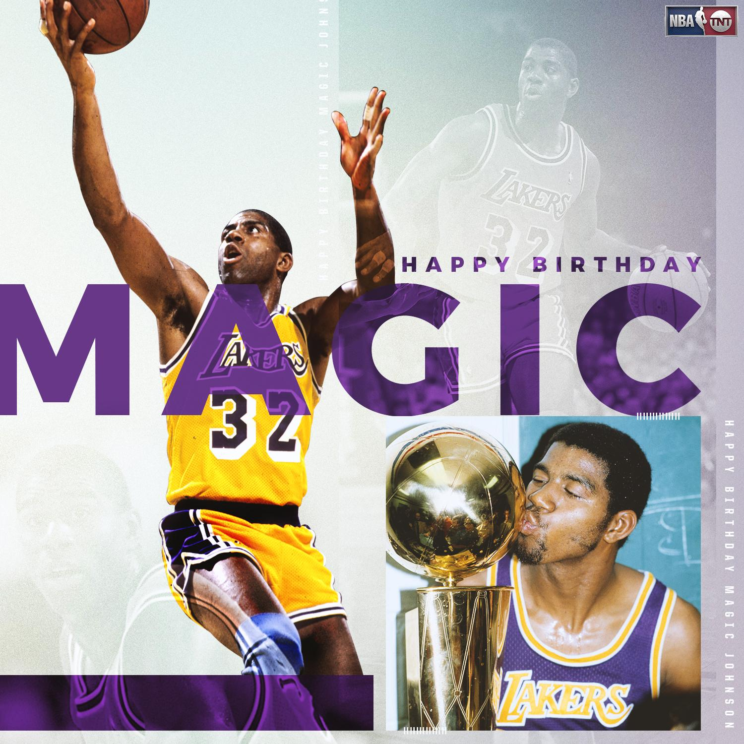 Happy Birthday to 5x NBA champion & Hall of Famer, @MagicJohnson  �� https://t.co/dKPel8ahy1