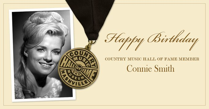 Help us wish a very happy birthday to Country Music Hall of Fame member Connie Smith!
