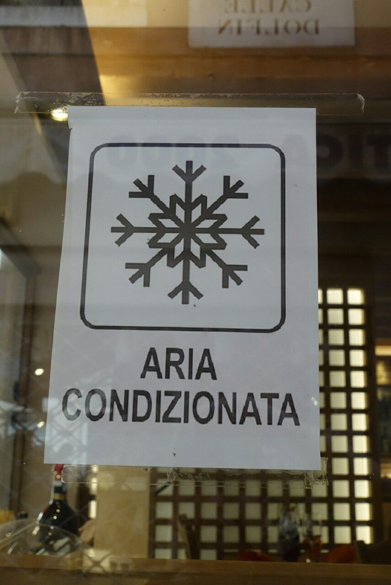 ARIAという文字列には無条件で反応してしまうのですが読むと「エアコンあります」という意味でした  #ヴェネツィアARI