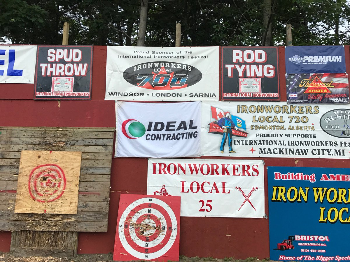 test Twitter Media - Our company banner was proudly displayed at the 2017 International Ironworker Festival in Mackinaw City! https://t.co/VqHNHJwoQK