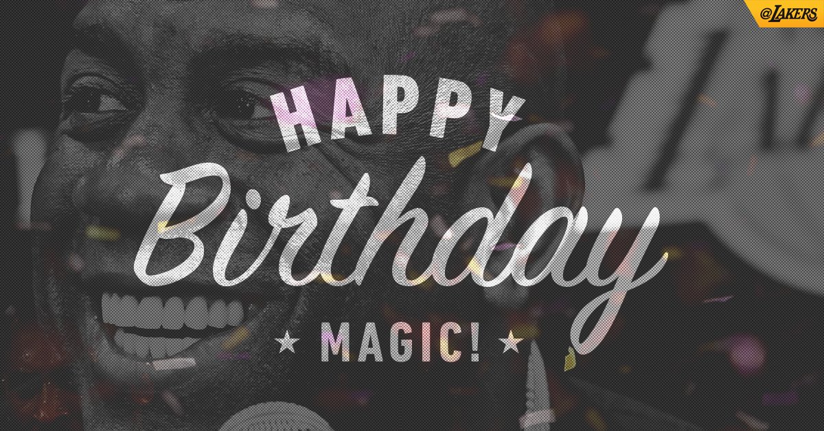 Wishing a happy 58th birthday to the living legend @MagicJohnson!! https://t.co/zDpkRPufmd