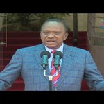 President Uhuru Kenyatta symbolically works from Harambee house, calls for peaceful protests