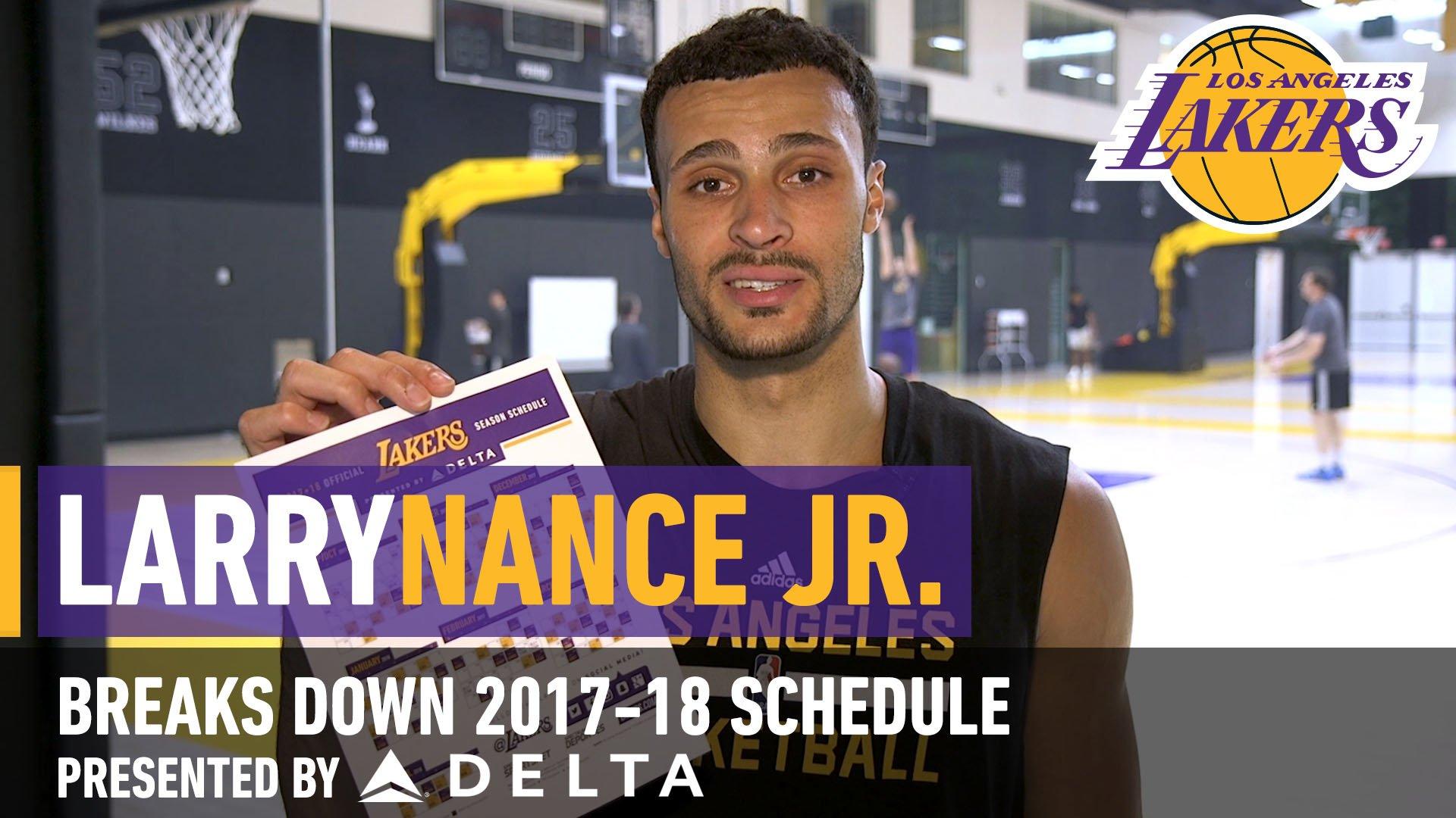 Larry Nance Jr. highlights some key dates in the 2017-18 season. https://t.co/RrEAJQZbrC