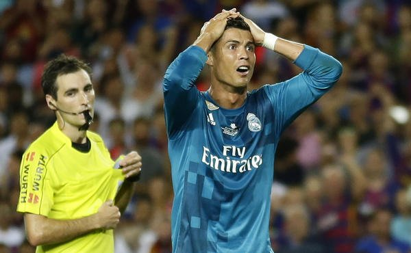 Real Madrid's Cristiano Ronaldo banned 5 games for pushing referee