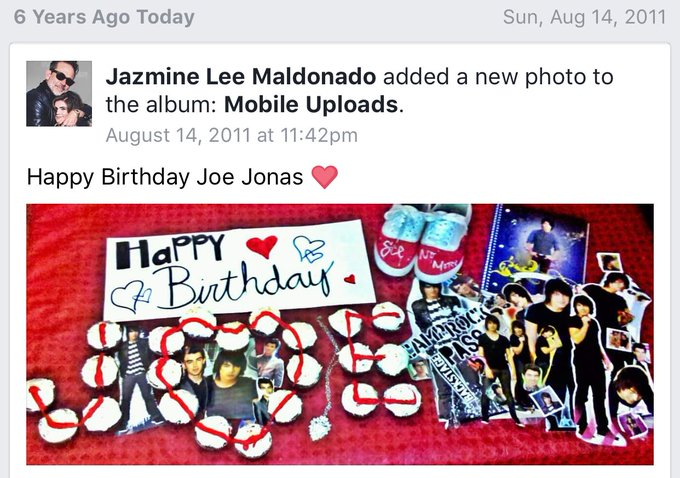 Happy birthday joe jonas from me six years ago & a day early