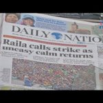 Many ignore Raila Odinga's call to boycott work in poll discontentment
