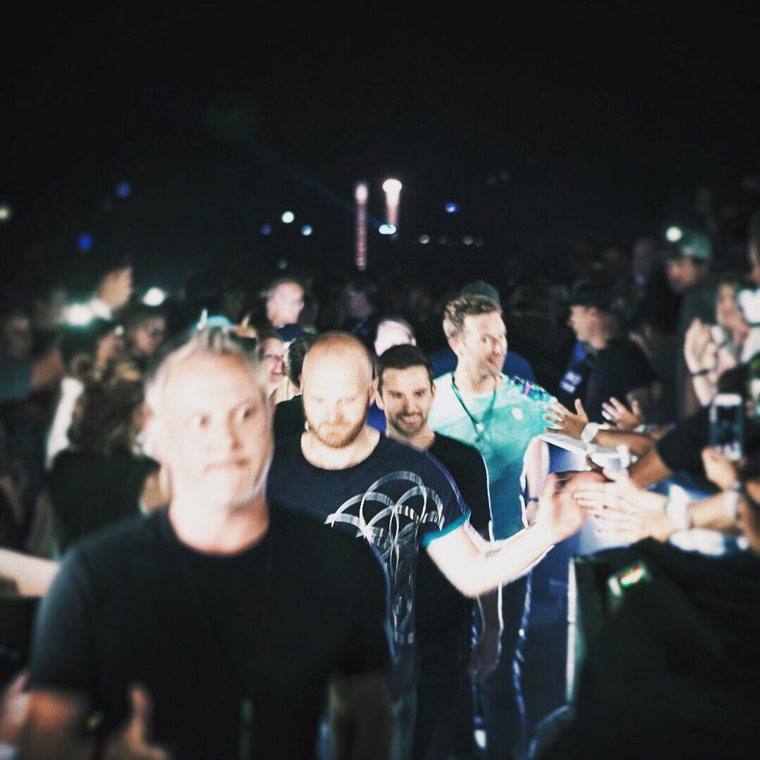 Heading for the C-Stage #ColdplayOmaha R42 https://t.co/ACe65lVg4R