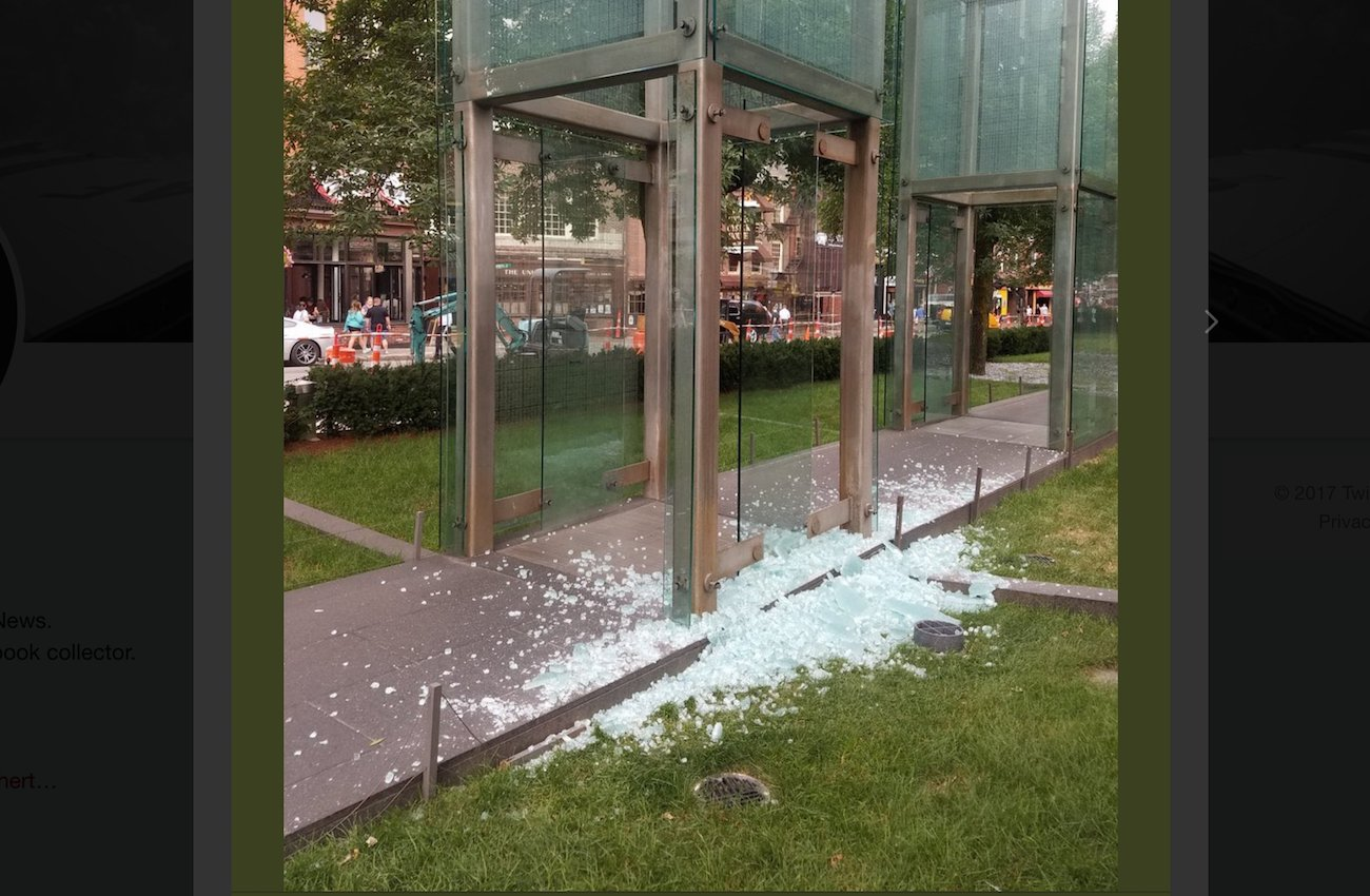 Boston Holocaust Memorial vandalized https://t.co/mTrVKQO4jZ https://t.co/2WKZ8geMWf