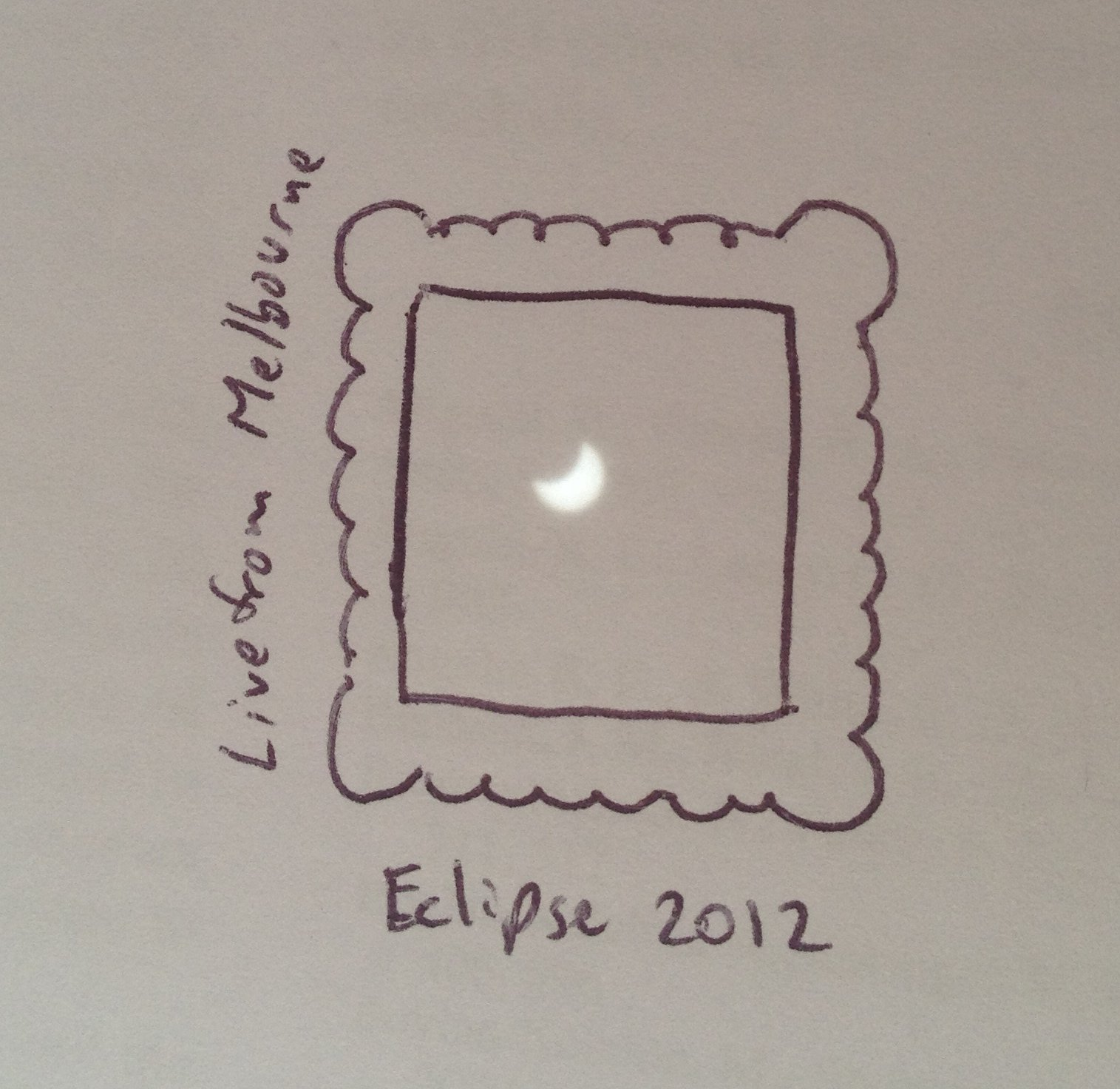 If you draw a little picture on the other surface, you can set up stuff like this. #eclipse #pinholeprojection https://t.co/JZRQqLz5A7