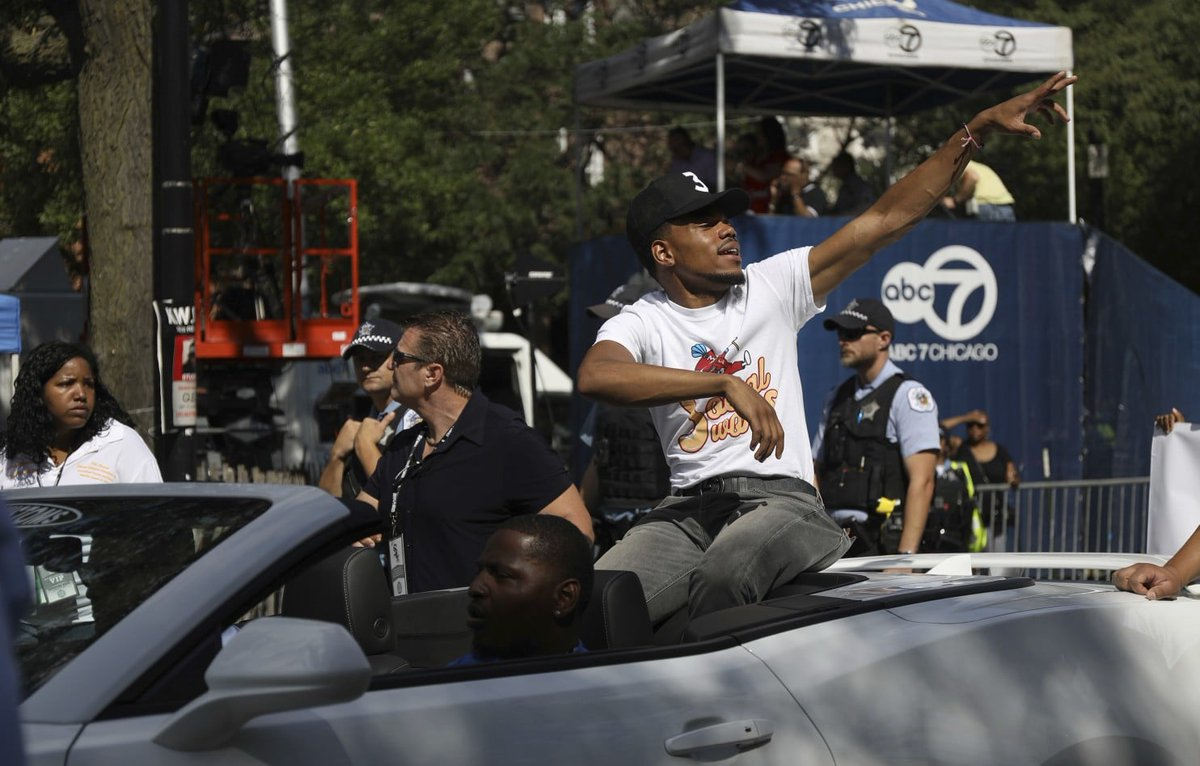 Obama praises Chance the Rapper during a free concert in Chicago