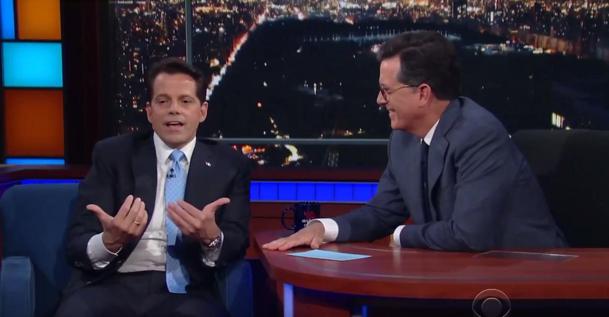 Watch Anthony Scaramucci's full interview with Stephen Colbert on Monday's 'Late Show'