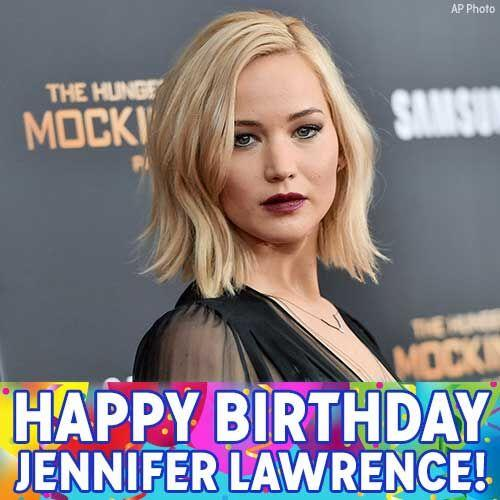 Happy Birthday, J-Law!  Oscar-winning actress Jennifer Lawrence is celebrating today.