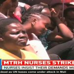 Moi Teaching and Referral Hospital nurses keep away from work