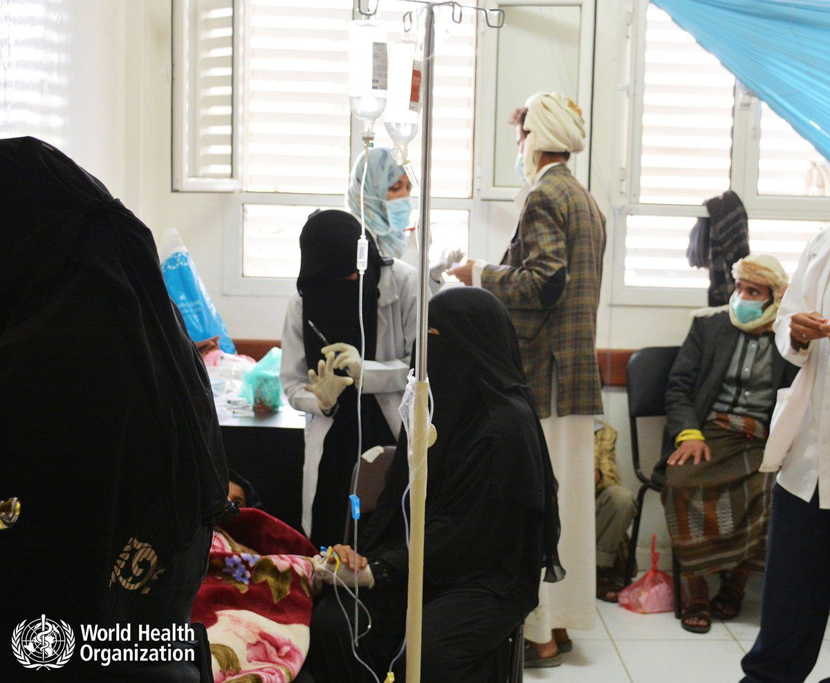 test Twitter Media - Yemen's cholera epidemic: @WHO is working around the clock to support the national health response effort. https://t.co/O7CclNhE7m https://t.co/nws42V153y
