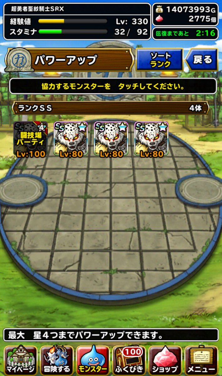 Good results!しっそう閃光突き+3サンダーボルト+3
