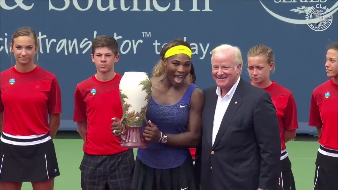 August 17, 2014 ��  @SerenaWilliams ​wins @CincyTennis! #WhiteClaw https://t.co/IiN3uCvUUL